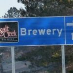 Salt Creek Brewery Location Sign